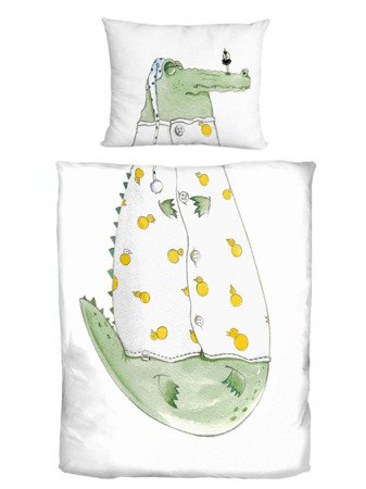 Komplet pościeli CROCO FOR KIDS 100 x 135 cm / 40x60 cm
